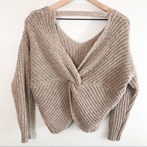 Charlotte Russe Chunky Knit Beige Sweater Size S